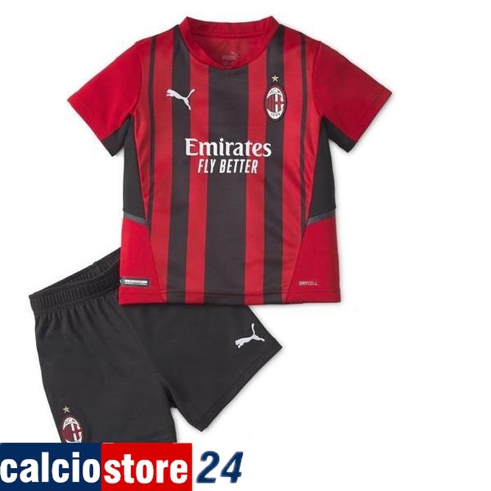 Sito Maglie Calcio AC Milan Bambino Prima 2021/2022 Ufficiale