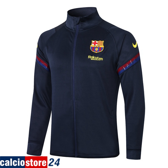 Nuove Giacca FC Barcellona Blu Reale 2020/2021